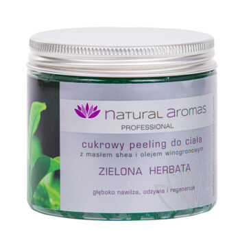 Natural Aromas Cukrowy Peeling Do Ciała Zielona Herbata 200 ml • SPA