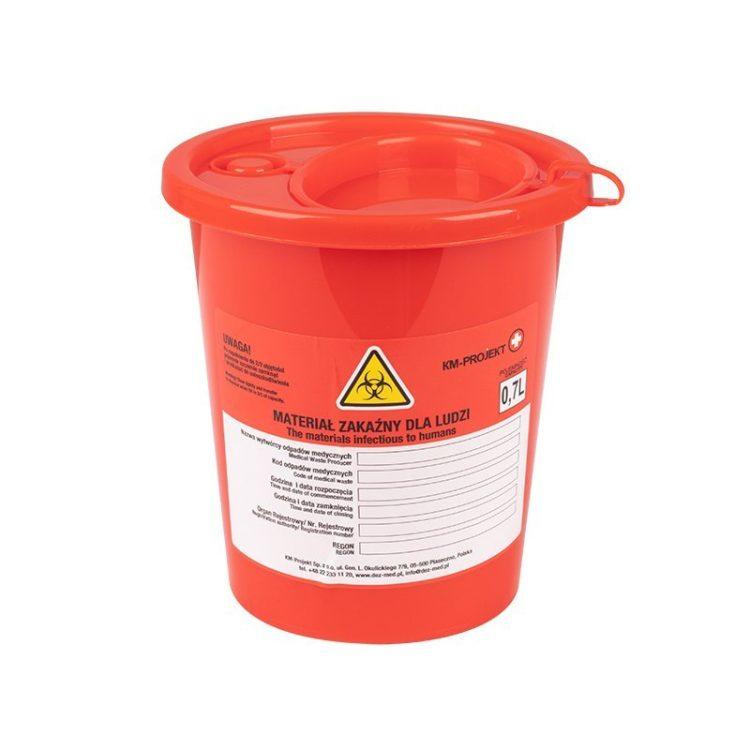 Pojemnik na odpady medyczne (0,7l) • Nowości