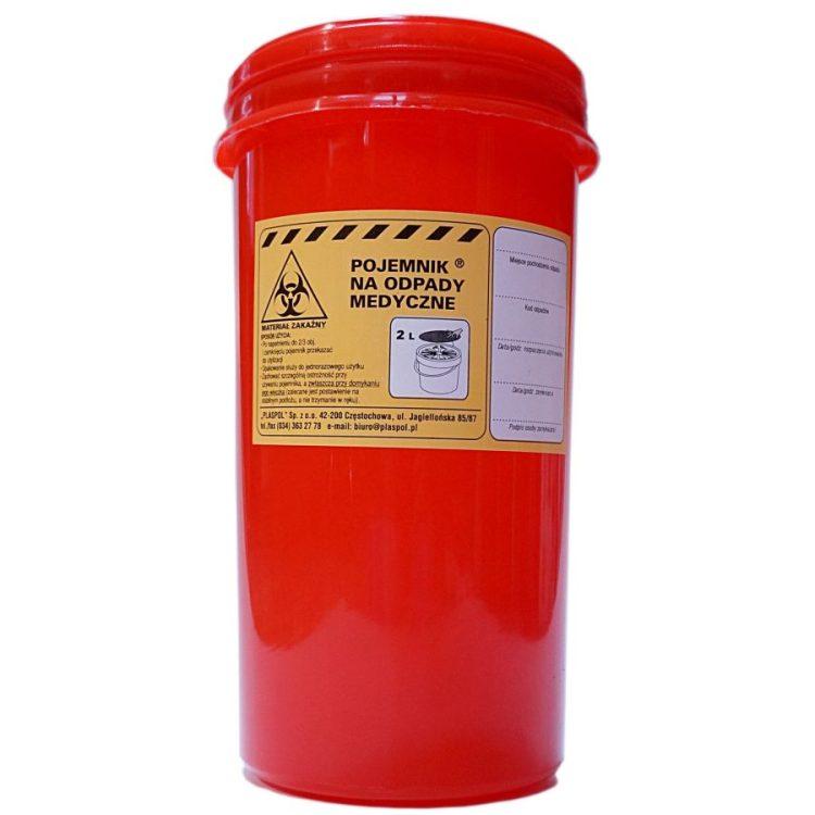Pojemnik na odpady medyczne wysoki (2l) • Nowości