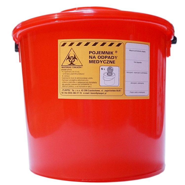 Pojemnik na odpady medyczne (5l) • Nowości